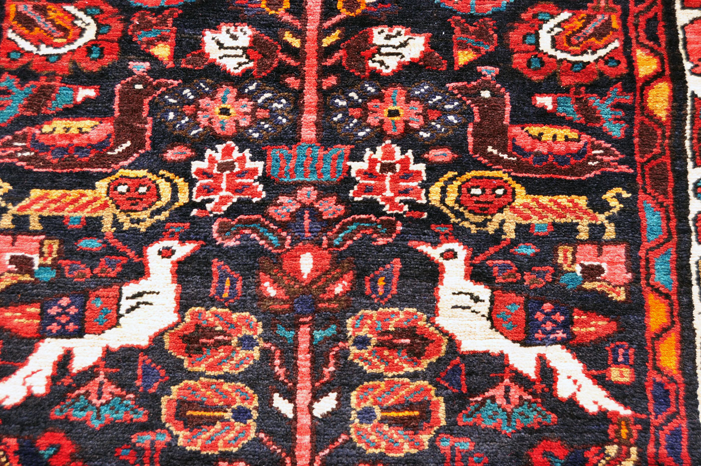 Bijar Lion and Bird Rug