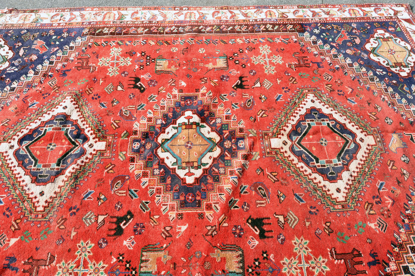 Qashqai Horse and Buffalo Rug