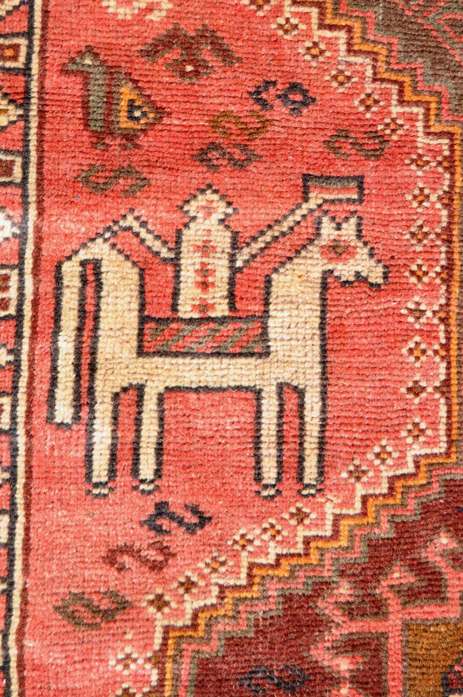 Tribal Persian Horseback Rider Rug