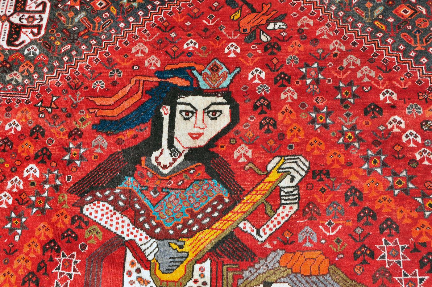 Shiraz Rug — Woman Musician