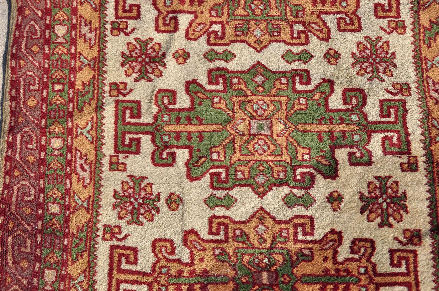 Caucasian Kazak Green Rug