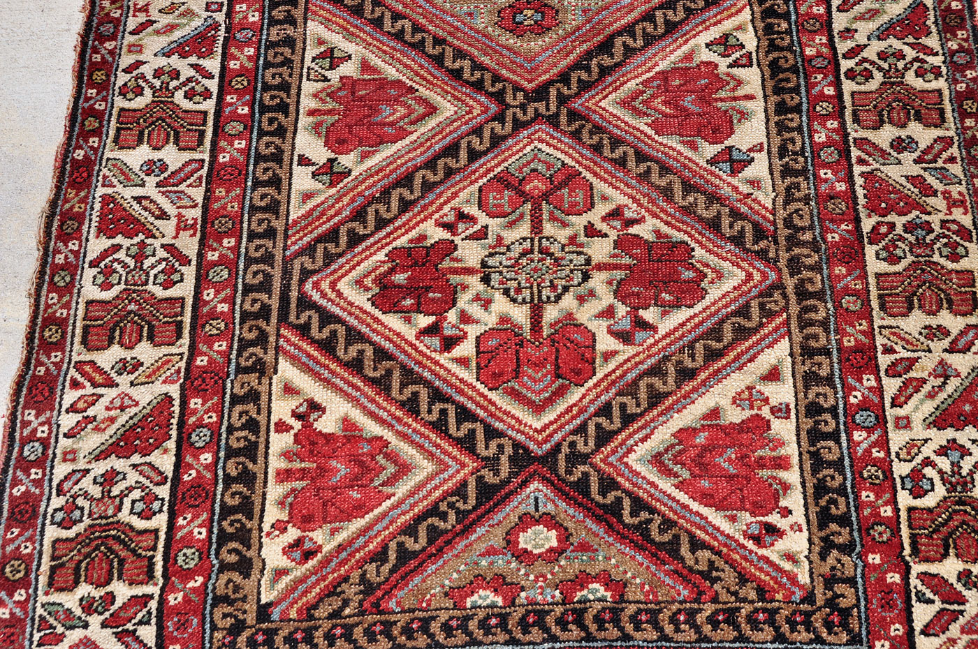 Antique Kurdish Quchan Runner