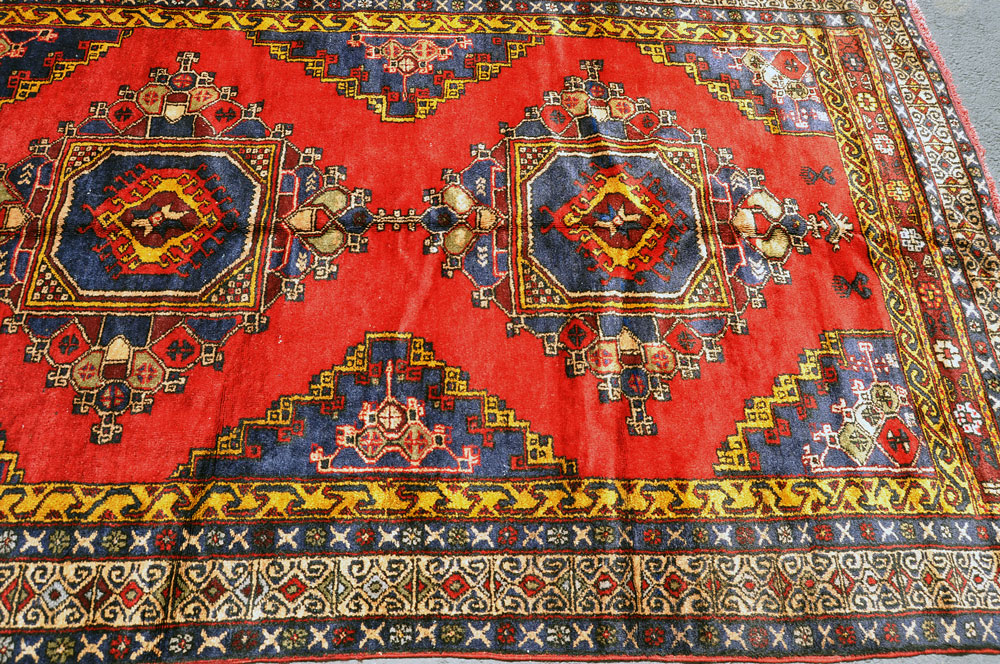 Konya Rug Red Diamonds