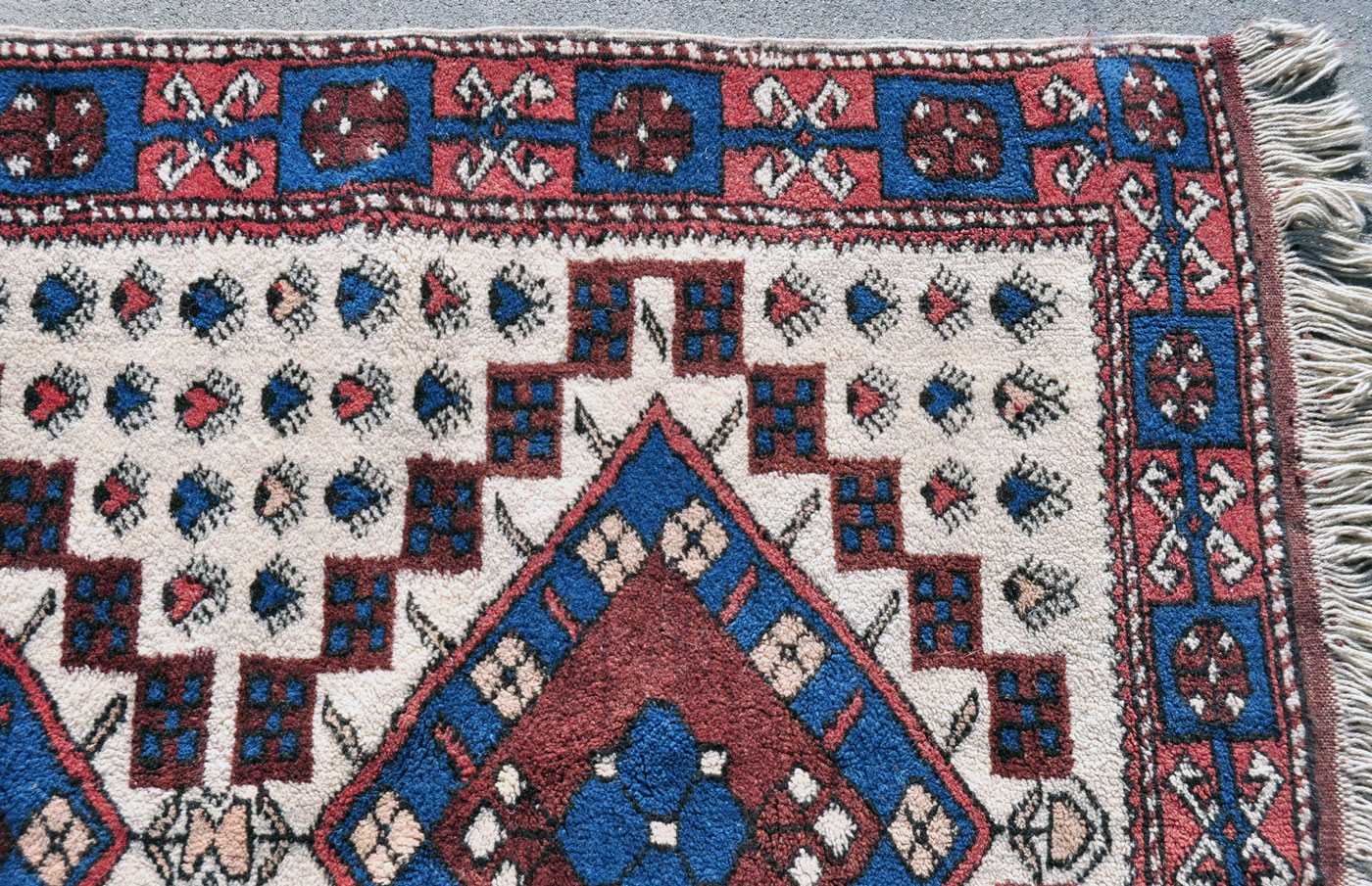 Turkish wool village rug