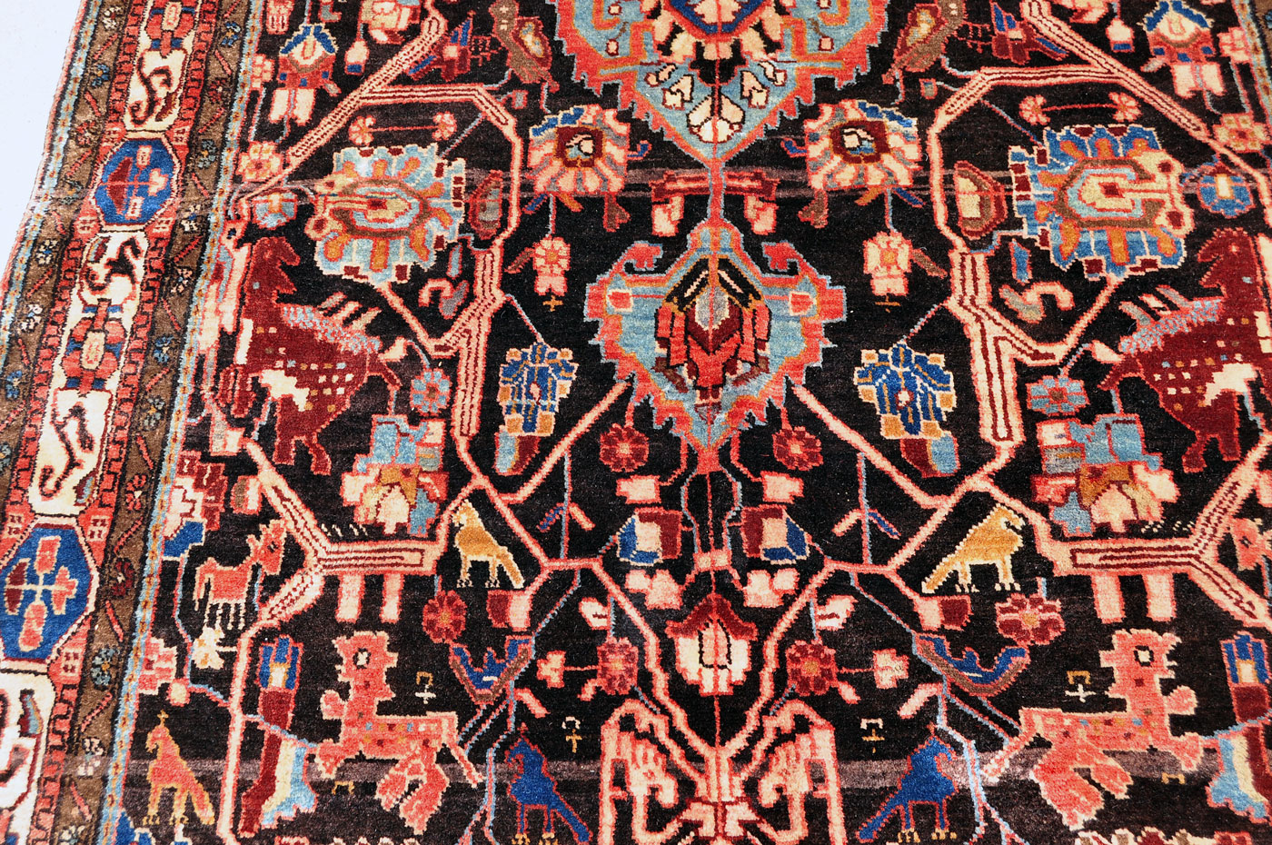 Tribal Rug with Lions