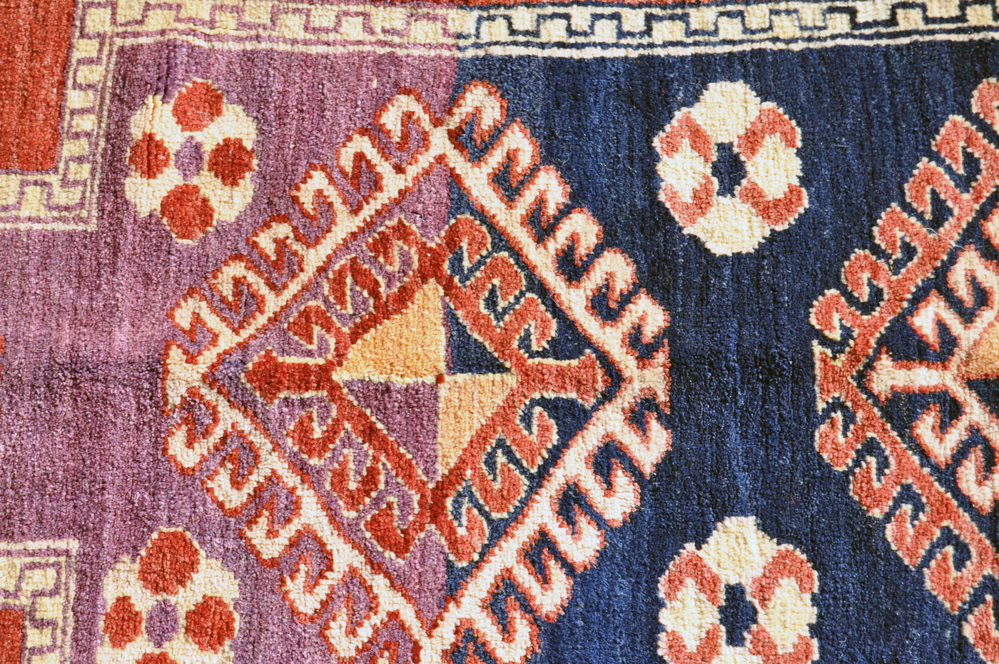 Turkish blue and purple rug
