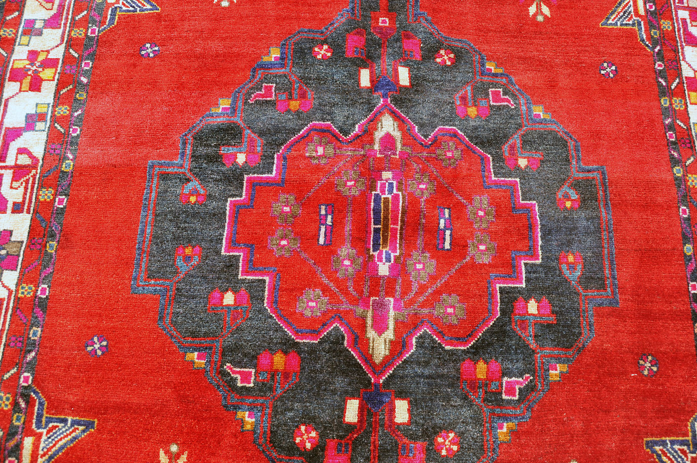 Bold Red Tribal Rug