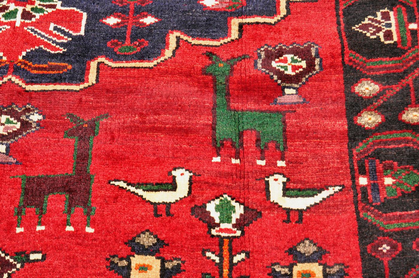 Kurdish Bird and Sheep Rug