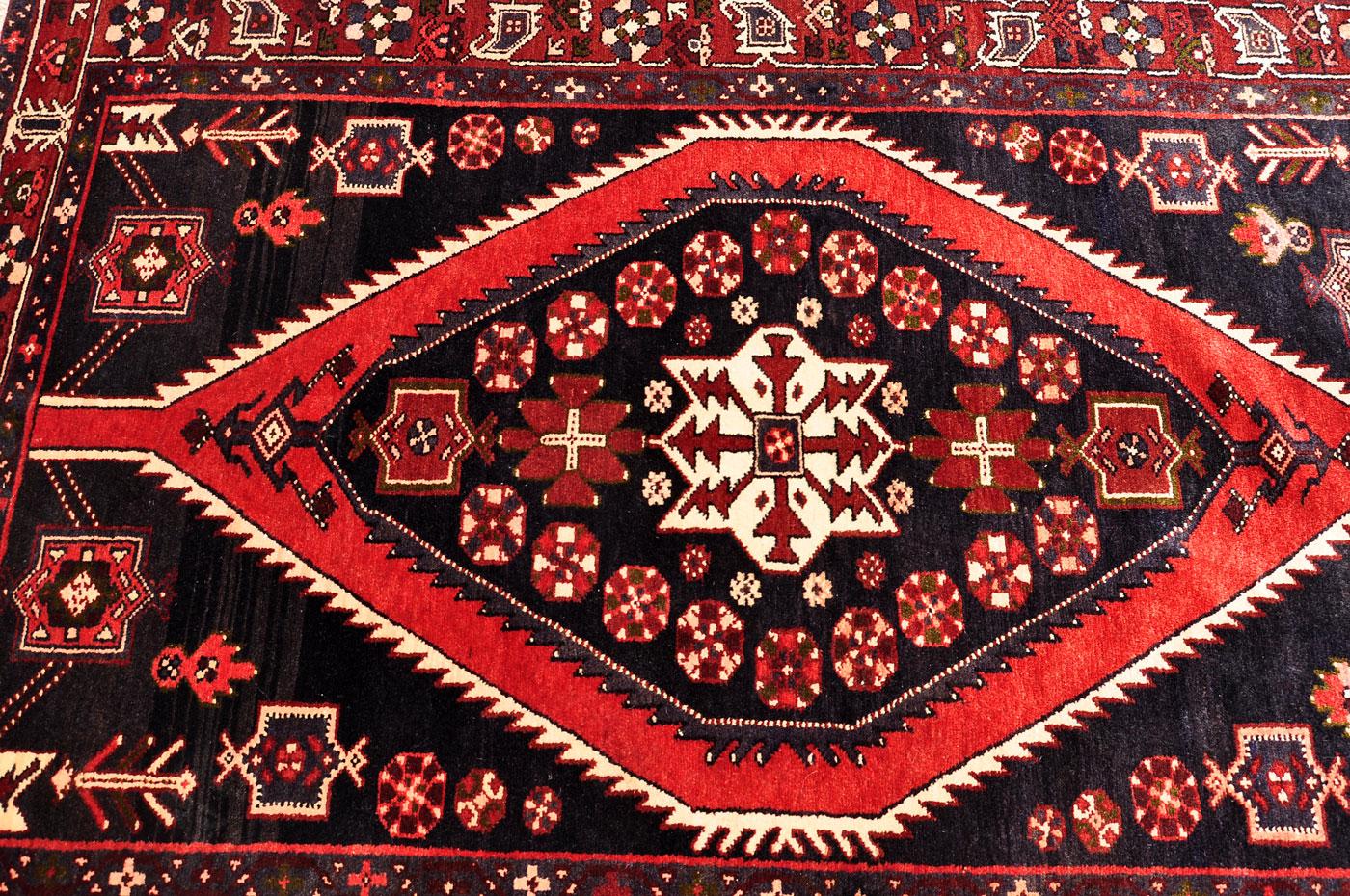 Bold Mazlaghan Tribal Rug