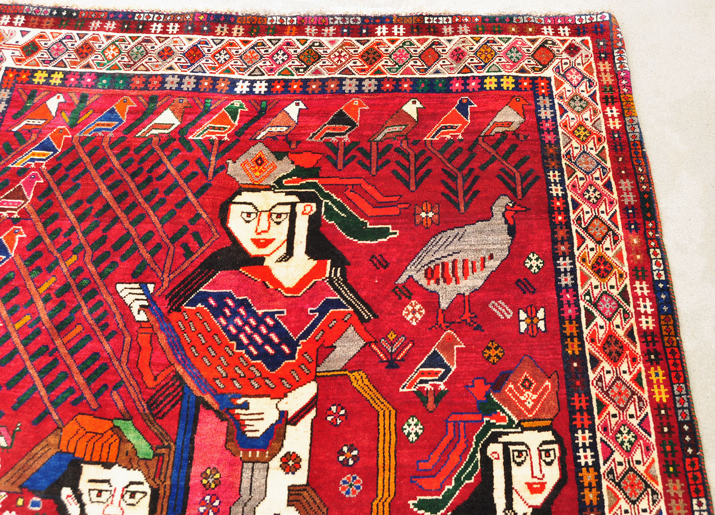 Musical Wine Song Persian Rug