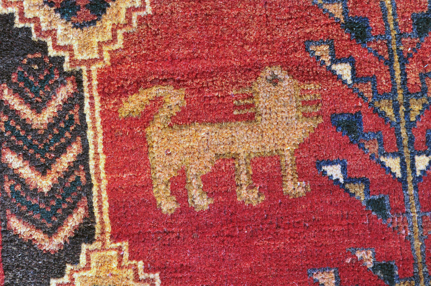 Persian Medallion and Lion Rug