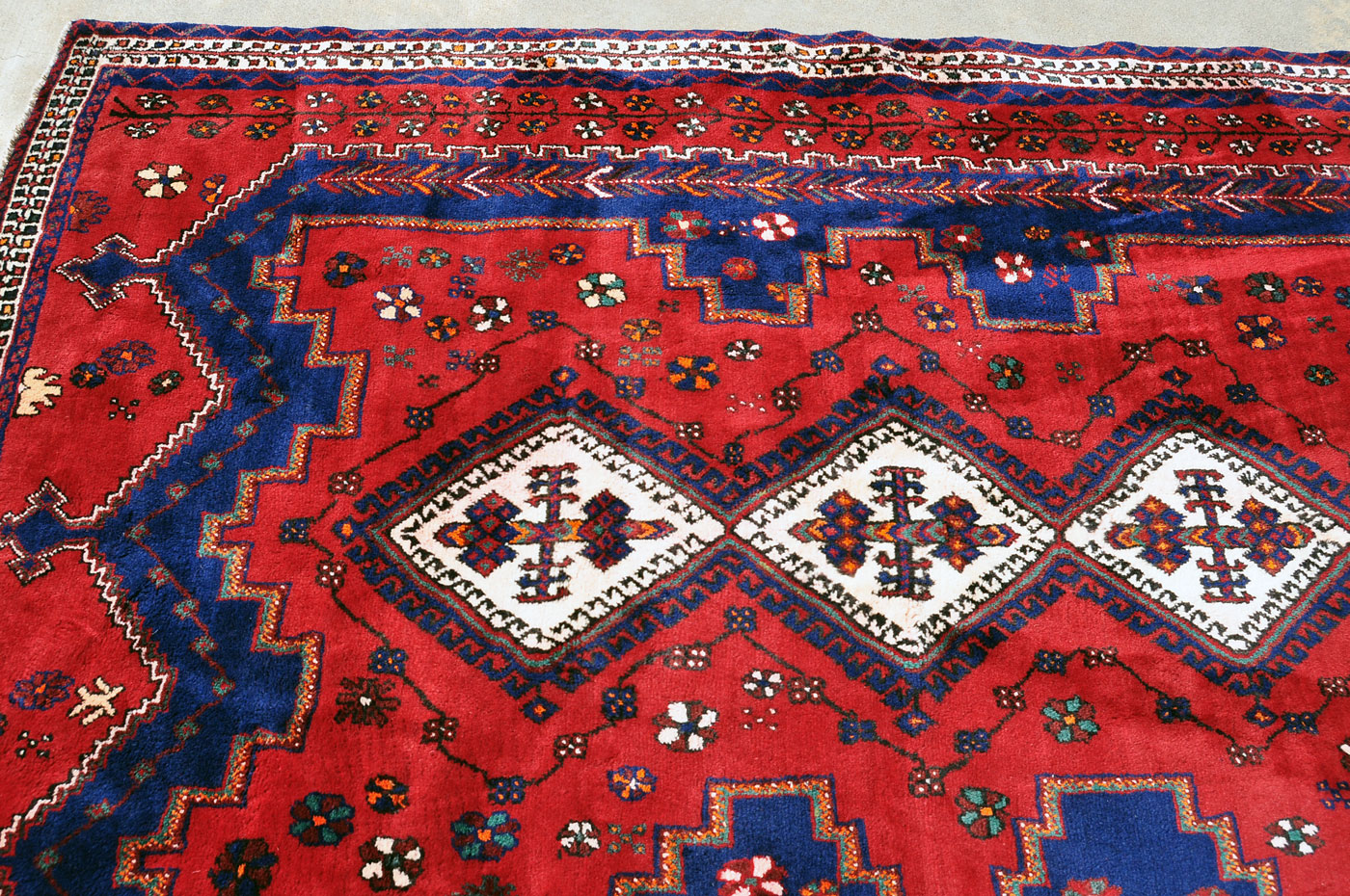 Vibrant Persian Tribal Rug