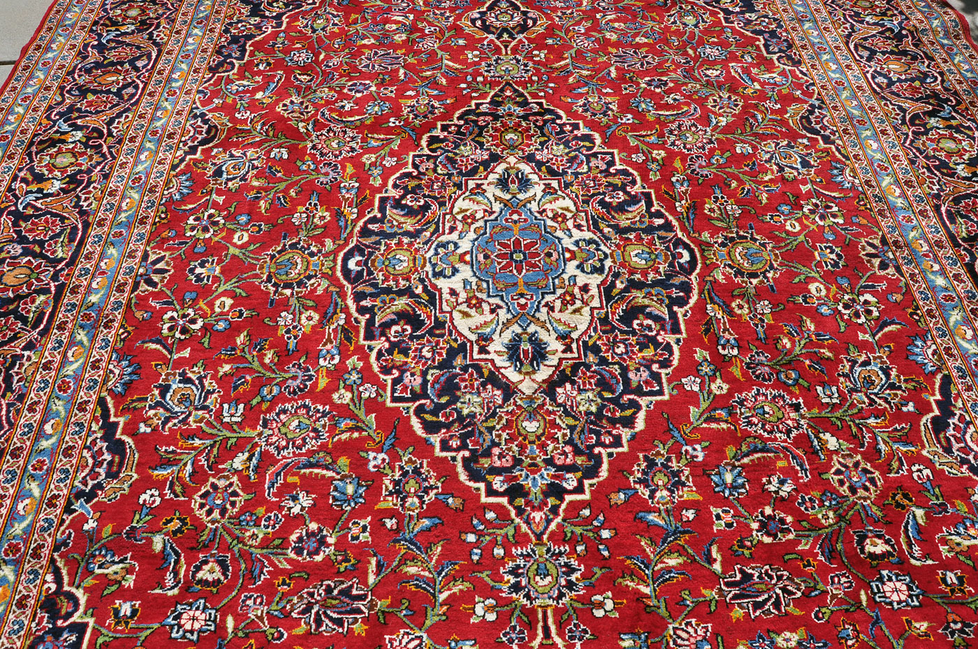 Persian Kashan Medallion Rug