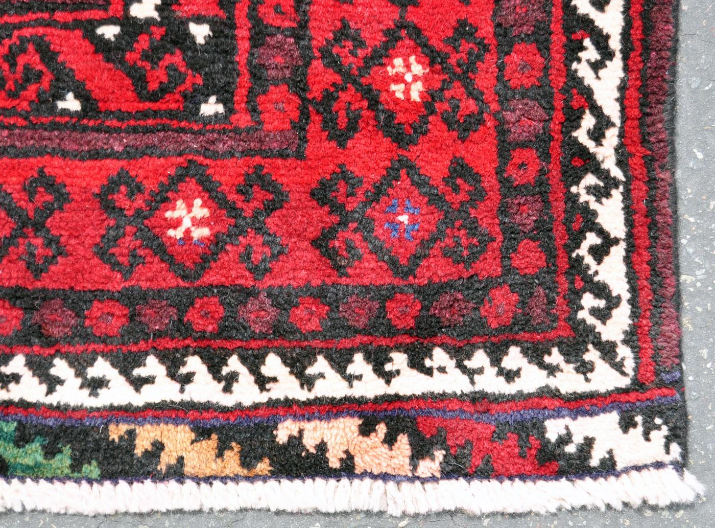 Plush Persian Baluch rug