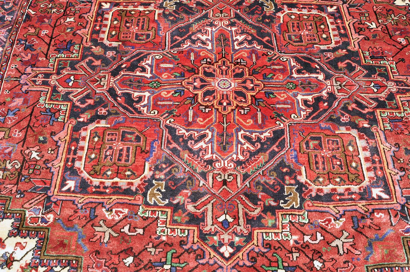 Full pile Persian Serapi Rug