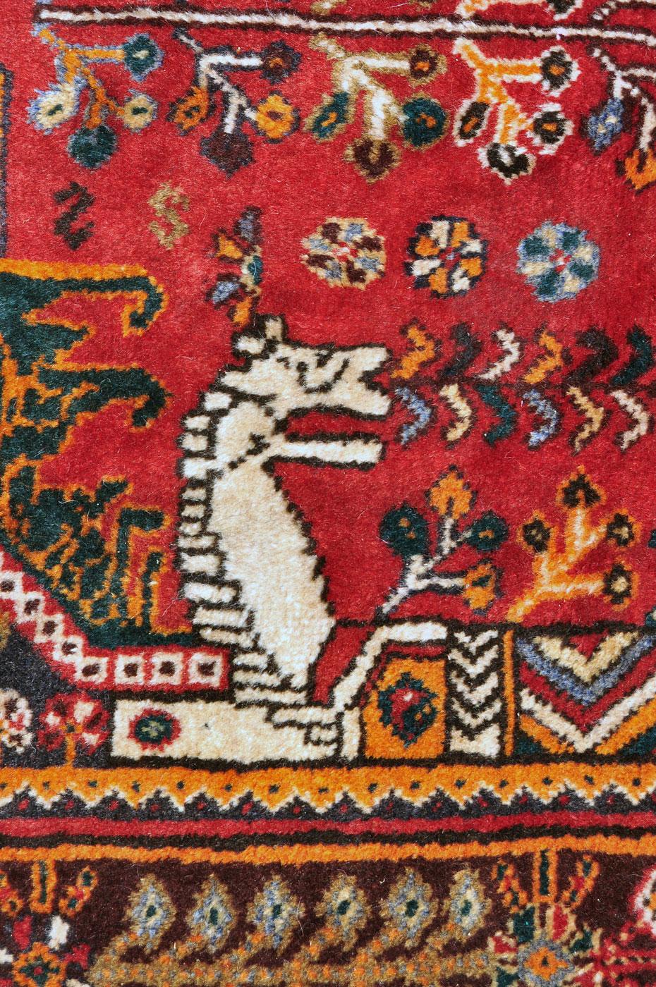 White horse head Qashqai Carpet