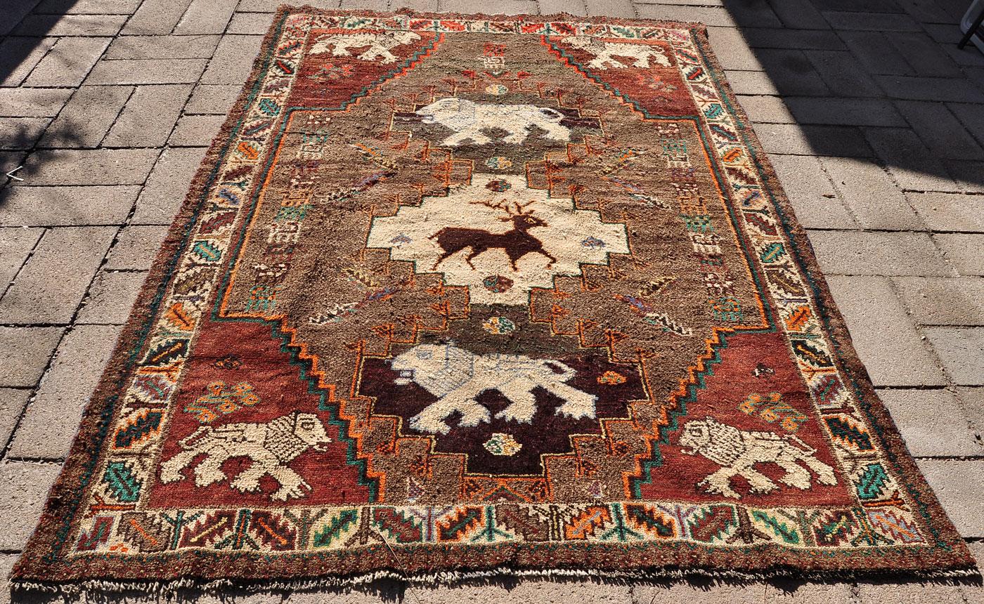Qashqai lion pack rug