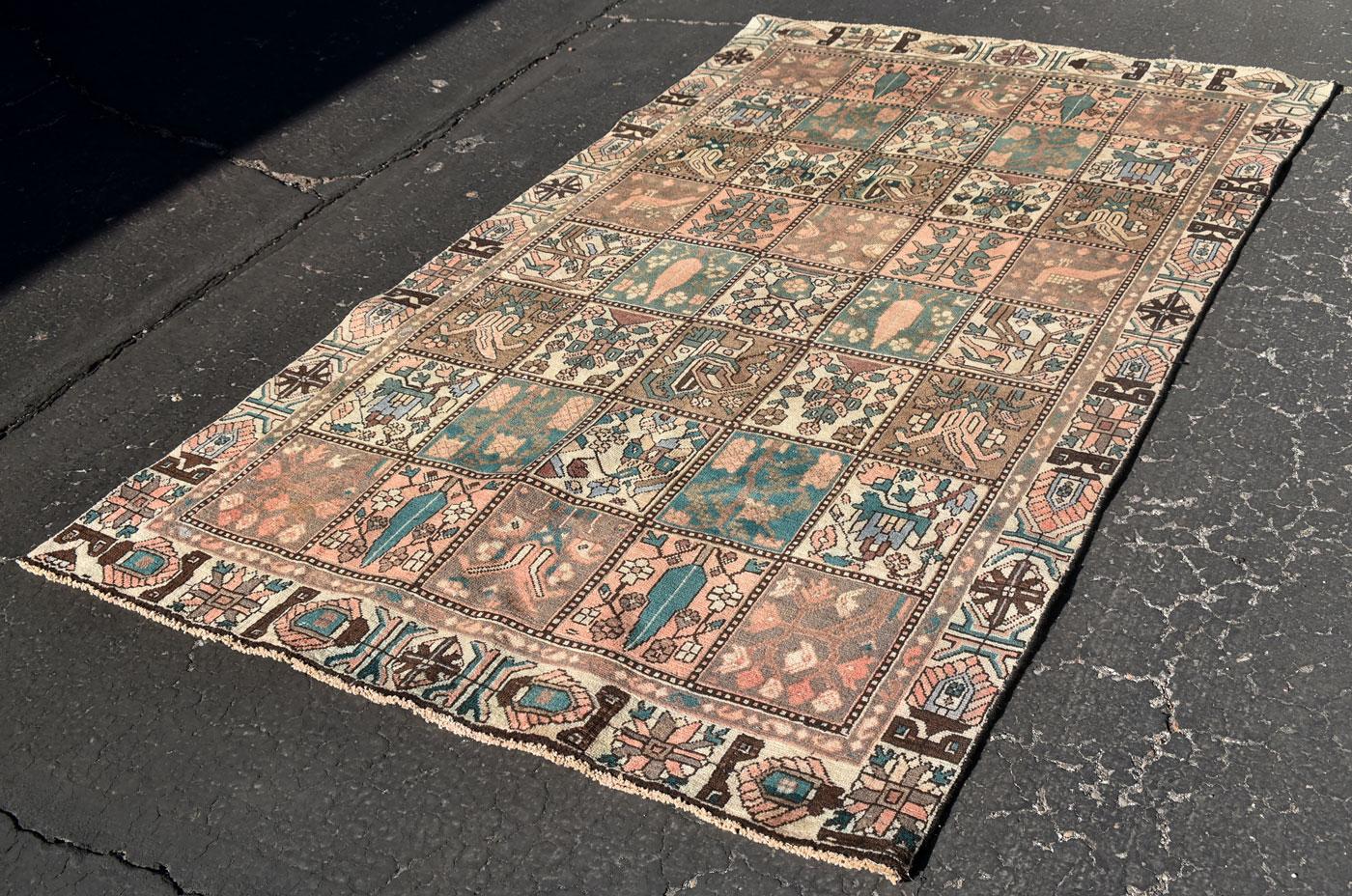Persian Bakhtiari Bird Carpet