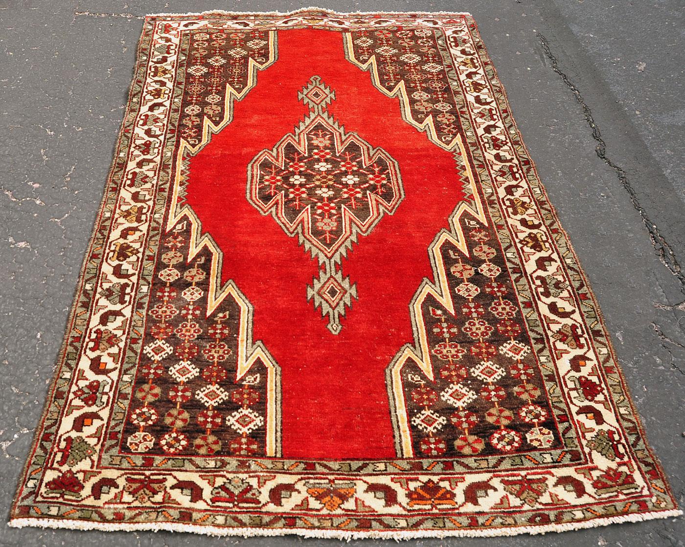 Persian Mazlaghan Village Rug