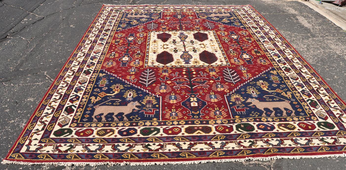 Giant cat tribal rug