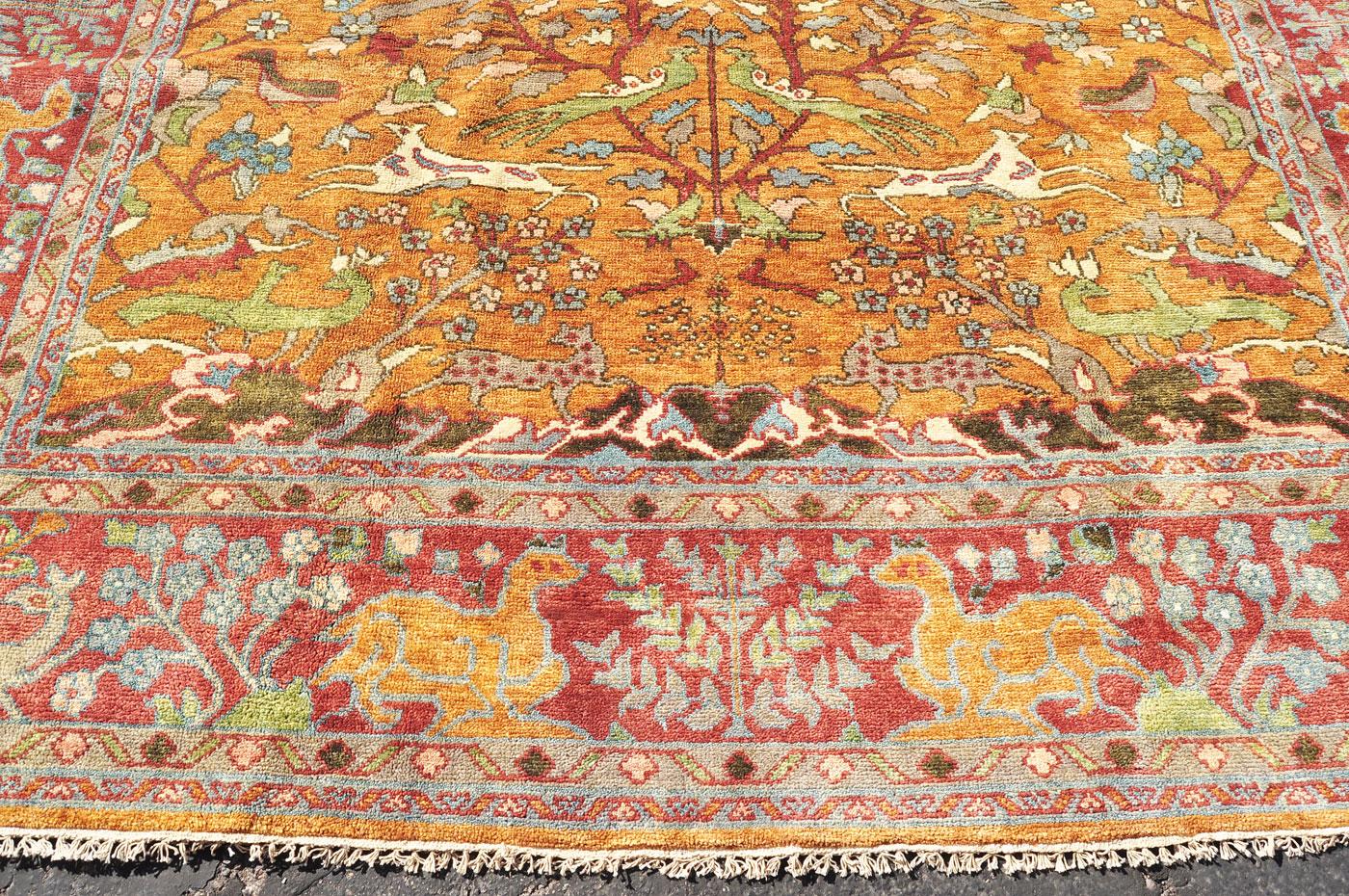 Fantastic forest animal rug