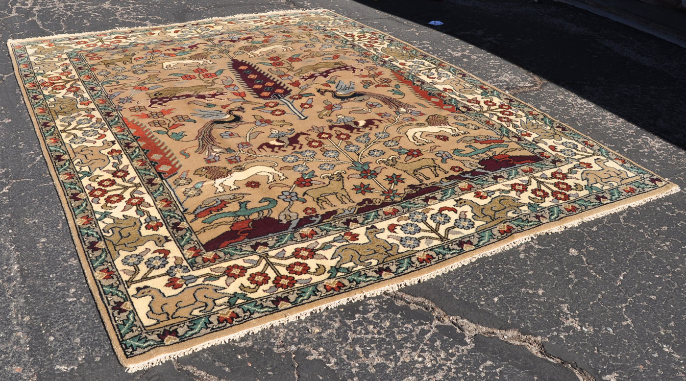 Lion and Forest Rug